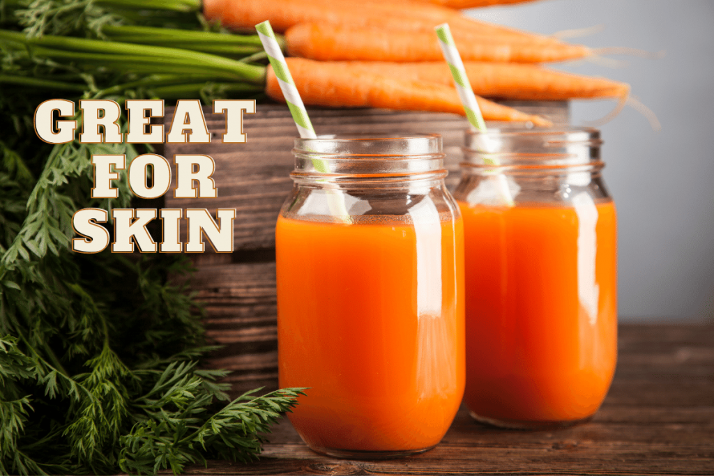 carrot juice and skin whitening